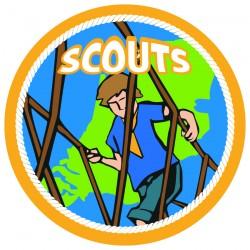 waar horen de insignes op scoutfit
